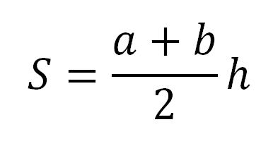 Формула площадь трапеции